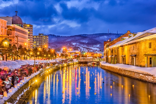 Image result for otaru snow light path