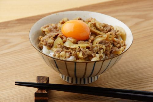 Gyudon_with_an_egg